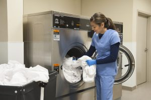 on-premise, commercial laundry equipment for hospice care 1